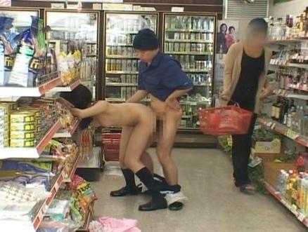 Порно фото в супермаркете